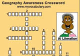 Geography vocabulary puzzles